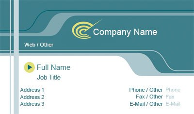 Technology Logo Business Card Template